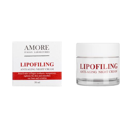 Концентрированный ночной крем с липофилинг комплексом, AMORE ITALIAN LABORATORIES